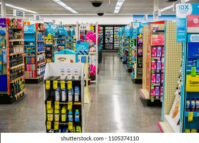 May 23, 2018 Sunnyvale / CA / USA - Indoor view of one of the Walgreens stores