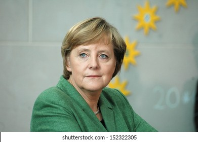 MAY 24, 2006 - BERLIN: Chancellor Angela Merkel at a reception for members of the PEN Congress in the Chanclery in Berlin.