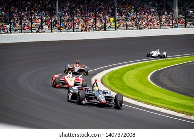 May 24, 2019 Indianapolis, IN: SPENCER PIGOT (21) of the United States heads through the turns to practice for the Indianapolis 500 at Indianapolis Motor Speedway in Indianapolis, Indiana.