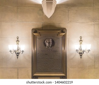 "May 24, 2019: On this day in 1844, Samuel Morse sent the world's first telegram, ""What Hath God Wrought!"", from here in the Old Supreme Court Chamber in the US Capitol, to Baltimore, Maryland."