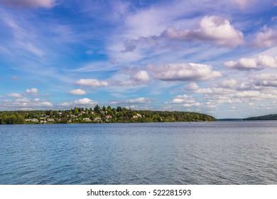 May 25, 2016: Panoramic view of lake Malaren in Sigtuna, Sweden