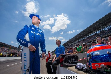 May 25, 2018 - Indianapolis, Indiana, USA: ED JONES (10) of the United Arab Emirates hangs out on pit road prior to the Indianapolis 500 at the Indianapolis Motor Speedway in Indianapolis, Indiana.