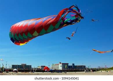 May 26, 2013 - Wildwood, NJ, USA: An enormous anchor kite catches the wind at the Wildwoods International Kite Festival.