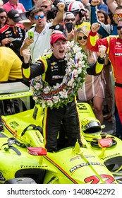 May 26, 2019 - Indianapolis, Indiana, USA: SIMON PAGENAUD (22) of France wins his first Indianapolis 500 in a thrilling finish at the Indianapolis 500 at Indianapolis Motor Speedway