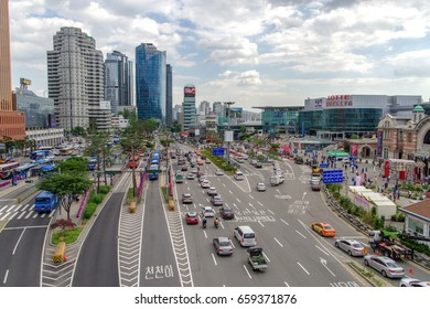 May 26,2017  City view at Seoullo7017 , Seoul, South Korea