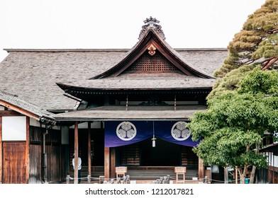 MAY 27, 2013 Takayama ,Gifu, Japan - Takayama jinya old government headquarters for Hida Province at Hachiken-machi old Edo district of Takayama, famous tourist attraction with Zen garden
