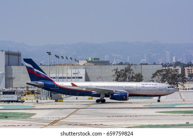 May 27, 2015. Los Angeles International Airport (LAX). Aeroflot Russian Airlines, Airbus A330-200