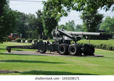 May 27, 2016, George Patton Museum howitzer artillery cannon on display