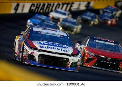 May 27, 2018 - Concord, North Carolina, USA: AJ Allmendinger (47)Races through turn 4 at the Coca-Cola 600 at Charlotte Motor Speedway in Concord, North Carolina.