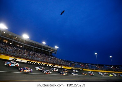 May 27, 2018 - Concord, North Carolina, USA: The Monster Energy NASCAR Cup Series teams race through turn four during the Coca-Cola 600 at Charlotte Motor Speedway in Concord, North Carolina.