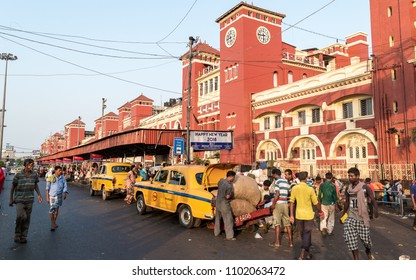 May 27,2018, Kolkata,India.The exterior of Howrah Junction, also known as Howrah Station, is the largest railway complex in India and it is a railway station which serves Kolkata and Howrah, India