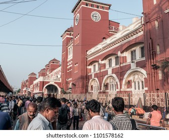 May 27,2018, Kolkata,India.  Howrah Junction, also known as Howrah Station, is the largest railway complex in India and it is a railway station which serves Kolkata and Howrah, India