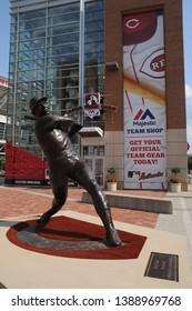 May 28, 2016, Cincinnati, OH Tony Perez statue outside the Great American Ball Park Main Entrance, Front Entrance, home of the Cincinnati Reds MLB Major League Baseball Team
