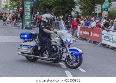 May 28, 2016 - Ottawa, Ontario - Canada - Police bike and officer