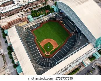 May 30, 2020 - Houston, Texas, USA: Minute Maid Park is a ballpark in Downtown Houston, Texas, as the home stadium of the Houston Astros of Major League Baseball (MLB).