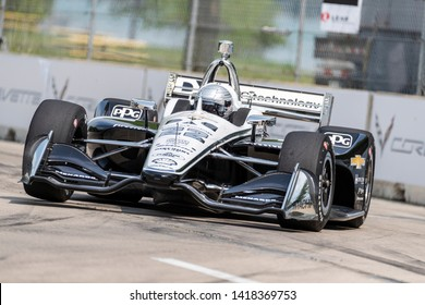 May 31, 2019 - Detroit, Michigan, USA: SIMON PAGENAUD (22) of France prepares to practice for the Detroit Grand Prix at Belle Isle in Detroit, Michigan.