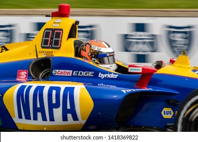 May 31, 2019 - Detroit, Michigan, USA: ALEXANDER ROSSI (27) of the United States prepares to practice for the Detroit Grand Prix at Belle Isle in Detroit, Michigan.