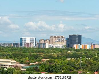 May 4, 2020 taguig city cityscape from Makati city, Manila, Philippines