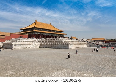 In May 7, 2018, the Forbidden City of Beijing, China, was especially beautiful under the blue sky.