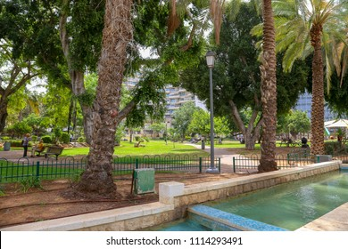 "MAY 7, 2018 - ISRAEL, Rishon Le Zion. ""Gan Ha-ir"", central park"