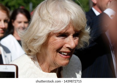 MAY 7, 2019 - BERLIN: Camilla, Duchess of Cornwall  during a visit in Germany, Pariser Platz, Berlin-Mitte.
