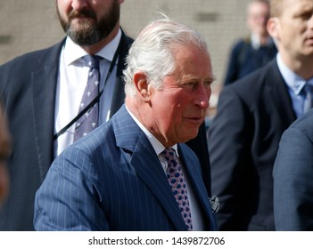 MAY 7, 2019 - BERLIN: Prince Charles during a visit in Germany, Pariser Platz, Berlin-Mitte.