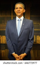 May 8. 2017 Museum of wax statues Grevin in the capital of the Czech Republic in Prague: Barack Obama - Former President of the United States of America