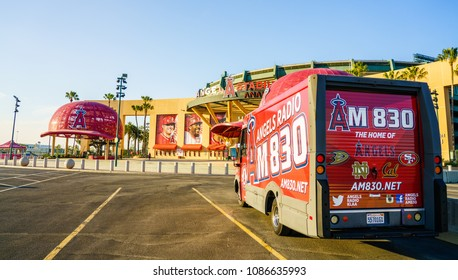 May 8, 2018 : View of The Angel Stadium. Angel Stadium of Anaheim is a ballpark stadium and home of the Los Angeles Angels of Anaheim of Major League Basebal : Anaheim, CA, USA