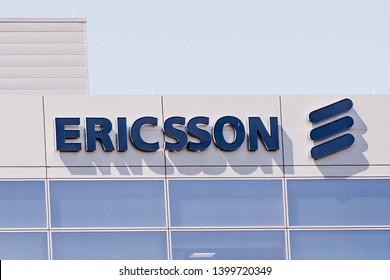 May 8, 2019 Santa Clara / CA / USA - Ericsson building located in Silicon Valley, south San Francisco bay area