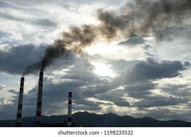 May 9, 2018, Cienfuegos, Cuba. Smoke Belches From The Thermoelectric Plant Named Carlos Manuel De Cespedas In Cienfuego, Cuba.