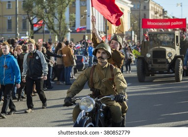 may, 9  - Victory Day. St. Petersburg, Russia â?? may 9, 2015: Parade in honor of 70 anniversary of the Victory in the second world war. 70th anniversary of Victory Day in Russia.