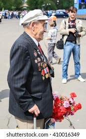 MAY 9: WWII veteran during a parade on victory Moscow 09 may 2011