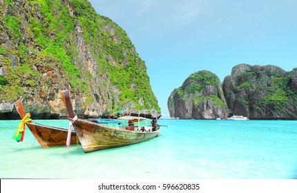 Maya bay Beach, Kra-bi province, south of Thailand