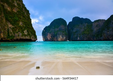 Maya Bay - Beautiful beach in Phi Phi Island - (Thailand /January 2017)