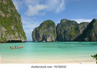 Maya Bay, Koh Phi Phi, Thailand. The place where the movie the Beach was filmed