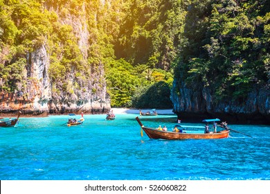 Maya bay Phi Phi Islands Andaman sea Krabi, South of Thailand.