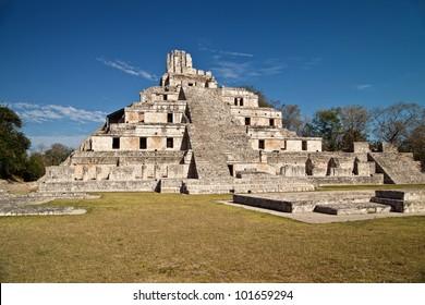 Maya ruins of Edzna, near Campeche, Mexico