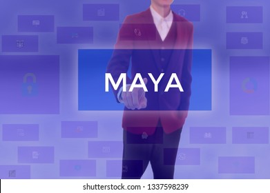 MAYA - technology and business concept