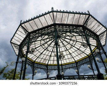 Mayaguez, Puerto Rico/USA - April 20, 2018: Gazebo at Heroes Park