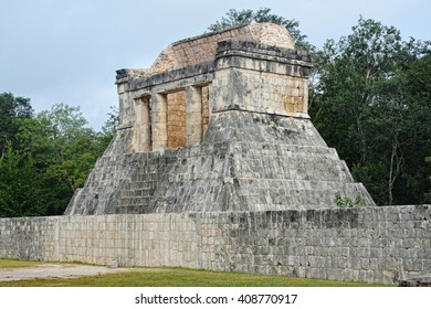 Mayan archeological site of Chichen Itza, Yucatan, Mexico.The temple of the bearded man.