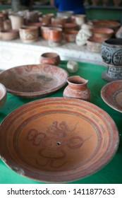 Mayan artefacts displayed in a small museum located near uaxactun.The Peten, Guatemala, 12/12/2012