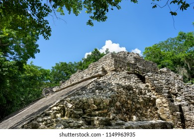 Mayan ball game ruins at Coba, Mexico