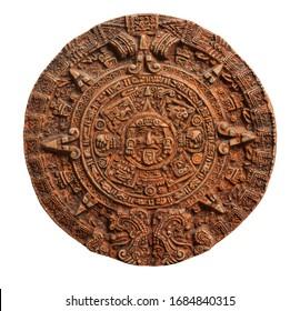 Mayan calendar isolated on white backround.