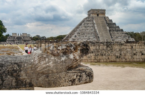 The Mayan city of Chichen Itza, one of the new seven wonders of the world. Yucatan State, Mexico