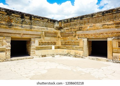 Mayan city ruins in Mitla, near Oaxaca city. The most important of the Zapotec culture centers in Mexico.