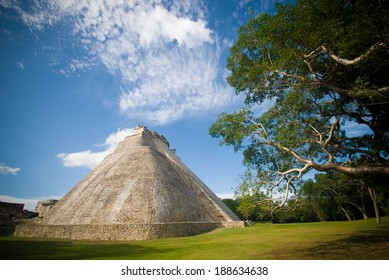 A mayan pyramid( The Pyramid of Magician) in archaeological center of Uxmal