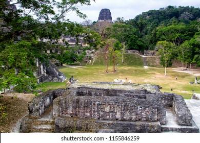 Mayan pyramids in Tikal, Peten region, Guatemala, Central America