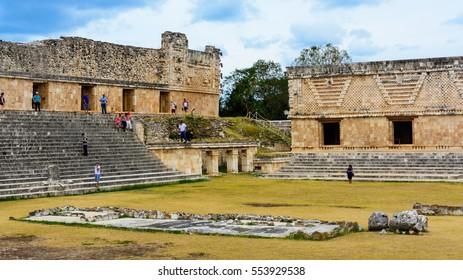 Mayan Pyramids in Uxmal, Mexico