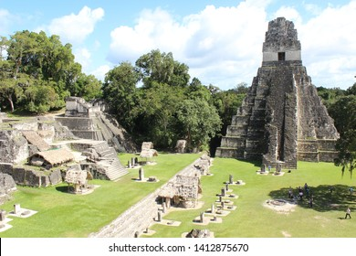 Mayan ruins in Guatemala in the middle of the jungle