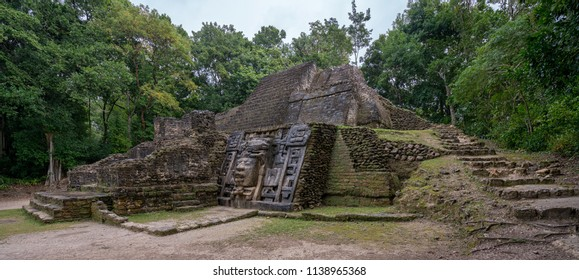The Mayan ruins of Lamanai.